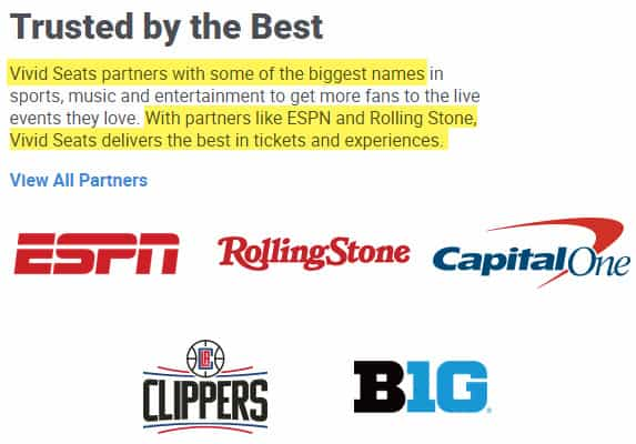 vivid seats review 2020 reliable trusted partners espn