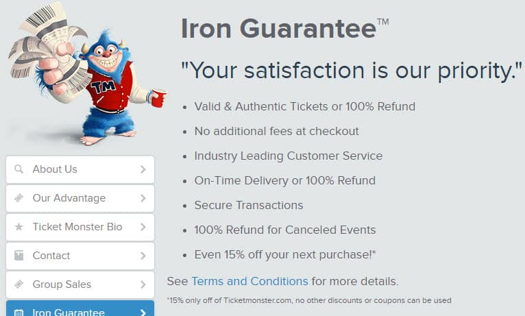 is ticket monster legit reviews guarantee