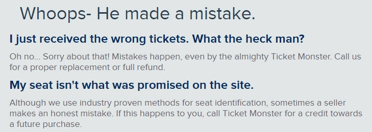 ticketmonster.com reviews legit tickets faq