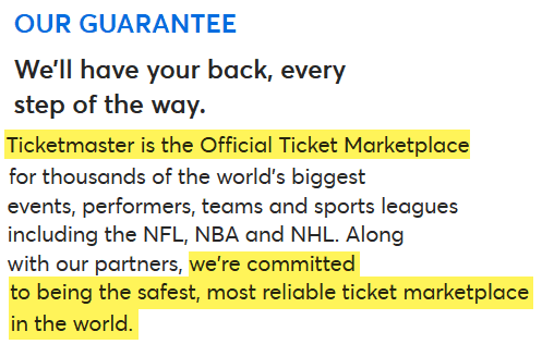 is ticketmaster safe to buy from