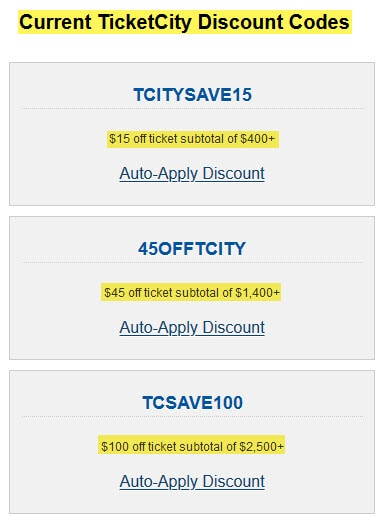 review ticketcity discount codes savings