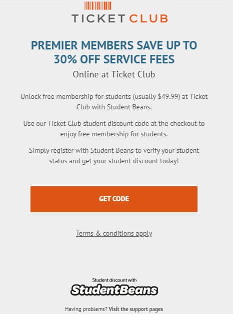 ticketclub review 2020 student discount premier membership