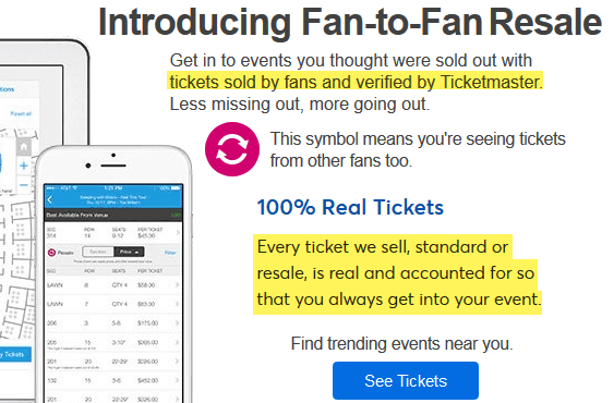 are ticketmaster resale tickets safe and legit