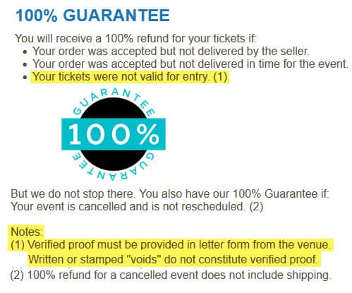 is event tickets center legit reliable guarantee