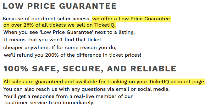 is ticketiq legit safe and reliable