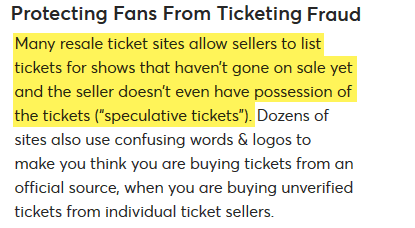 is ticketmaster trustworthy resale tickets review