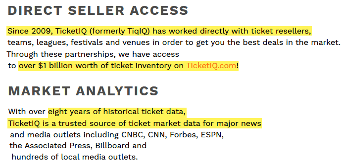 ticketiq review direct seller access