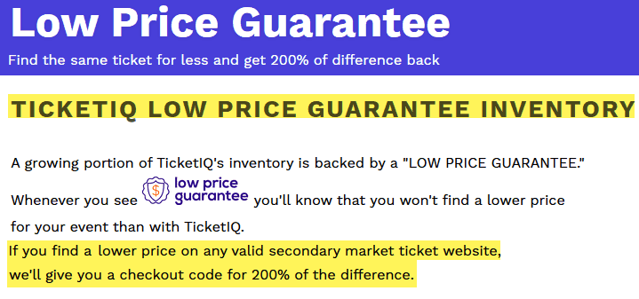 ticketiq reviews guarantee