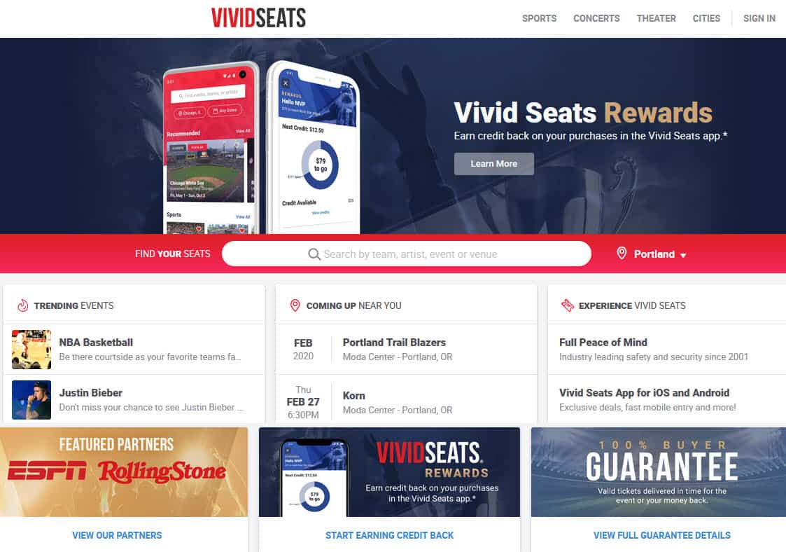 vivid seats review 2020 are tickets legit