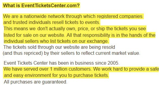 are eventticketscenter tickets real