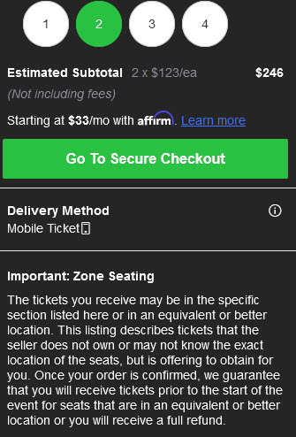 legit ticket faster review secure checkout