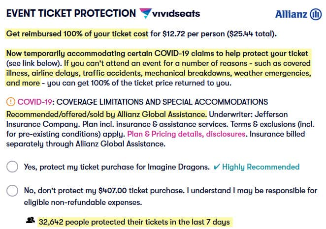 review vivid seats is legit ticket protection